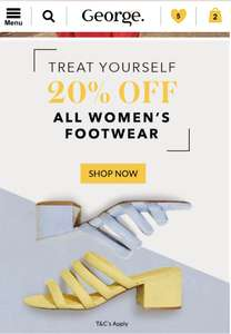 20% off all Women's footwear at George