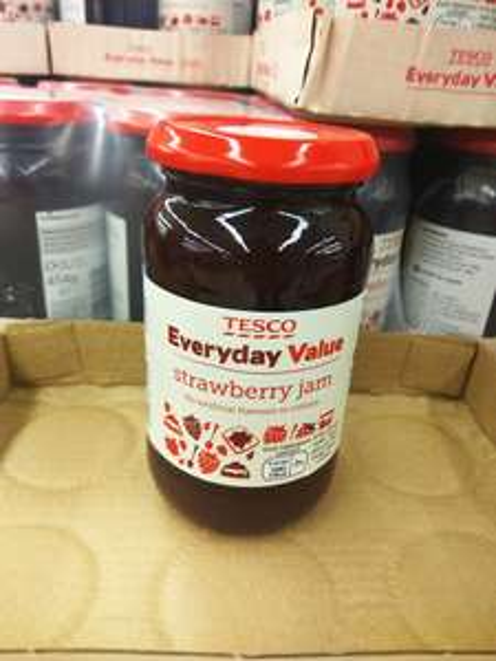 Tesco Everyday Value Strawberry Jam 454g 10p in-store @ Tesco Sale