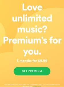 Spotify Premium - Come back to Premium 3 month for £9.99