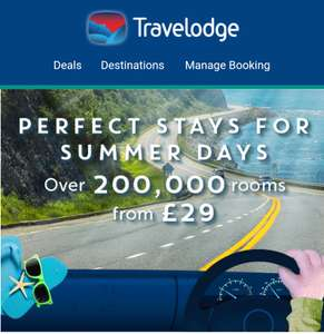 Travelodge over 200,000 rooms from £29