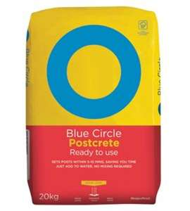 Blue Circle Ready To Use Postcrete - 22% OFF - 20kg now only £4 at Wickes