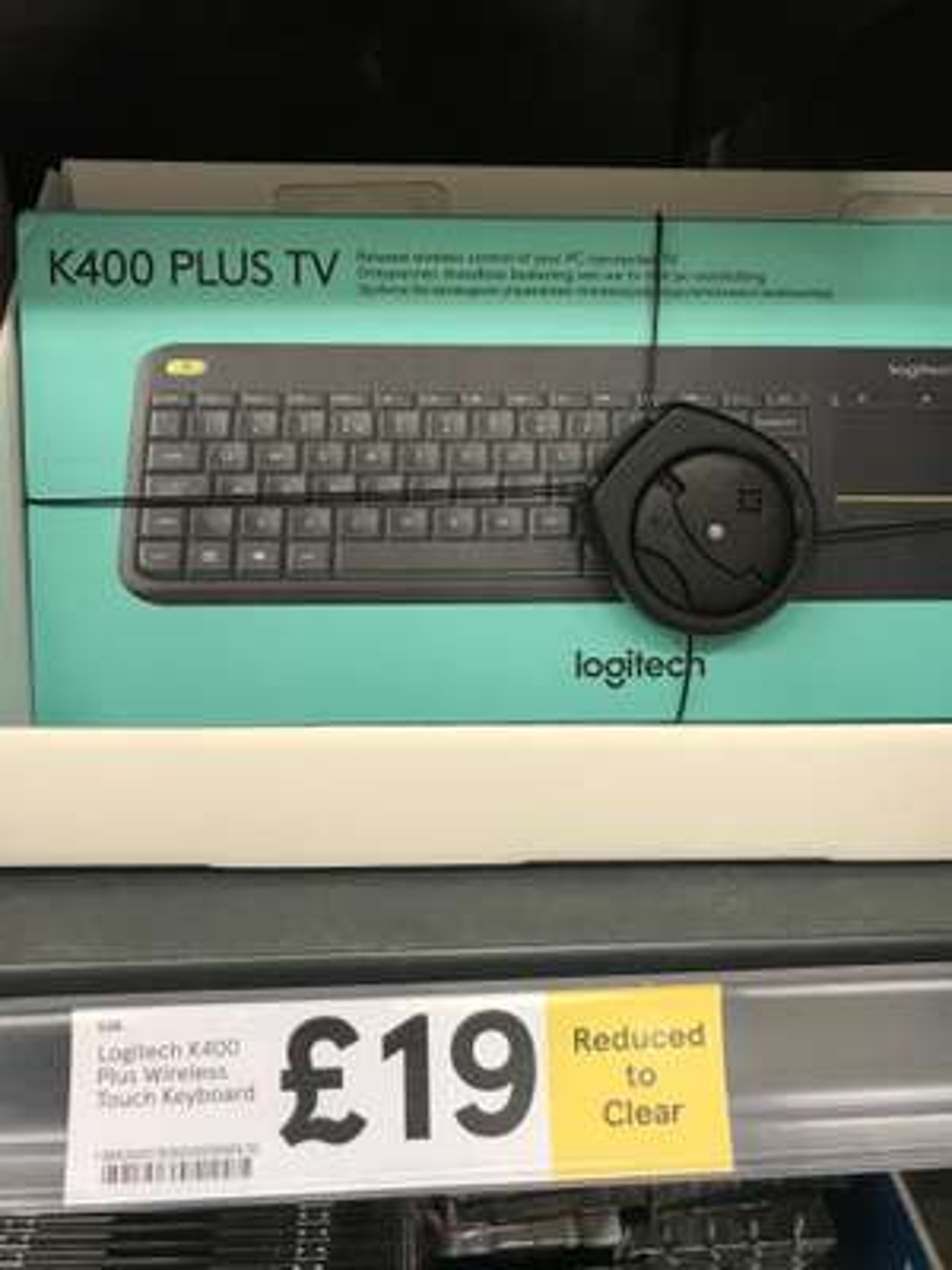 Logitech K400 wireless touch keyboard reduced to £19 in Tesco instore