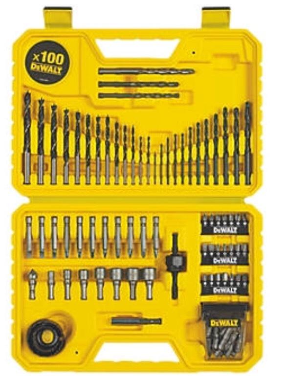 Dewalt Straight Shank Combination Drill Bit Set 100 Piece Set £19.99 @ Screwfix