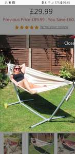 Deluxe Hammock £29.99 delivered with code @ Coopers of stortford