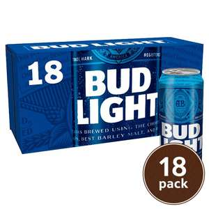 Bud Light 18 X 440ml £12 (£1.52/litre) @ Tesco + Asda