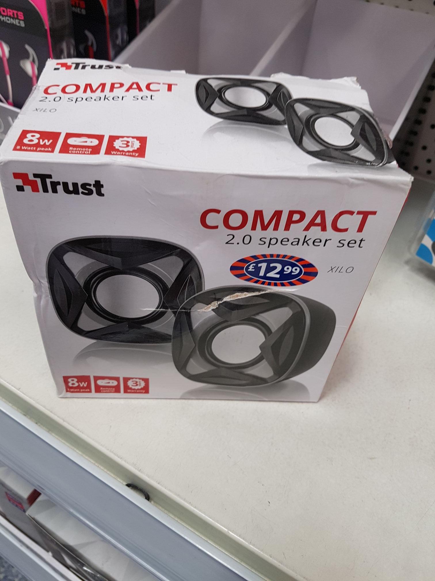 Trust USB compact speaker set £1 @ B&M