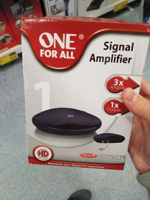 ONE for all signal amplifier £2 at B&M instore