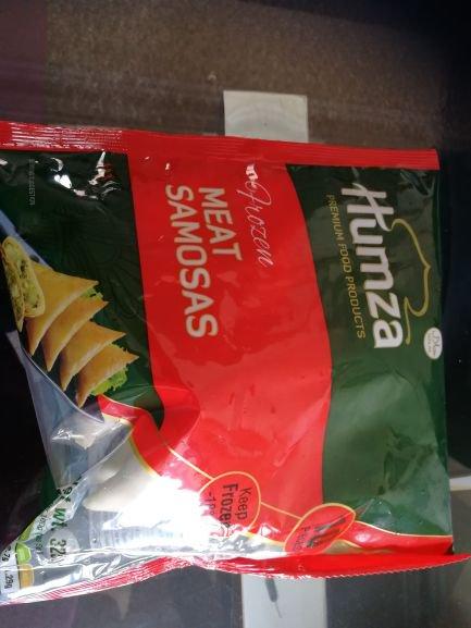 Humza meat samosas 10 £1.25 @ Heron