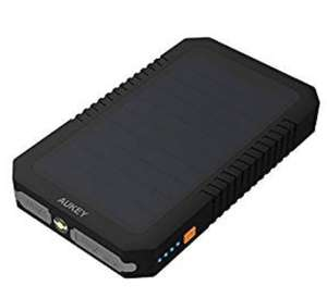 AUKEY Solar Power Bank 12000mAh Dual USB Port with SUNPOWER Panel for USB Supported Devices £12.99 prime /  £17.48 non prime @ AUKEY UK and Fulfilled By Amazon