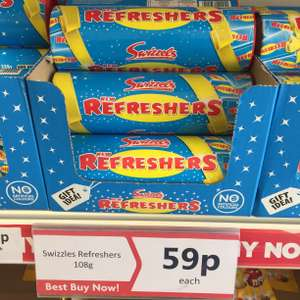 Swizzels Refreshers tube 59p at Heron! discount offer