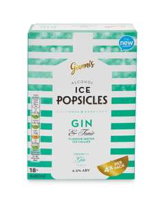 Pack of 4 Prosecco & Peach Bellini Popsicles / Pack of 4 Gin & Tonic Popsicles £2.99 instore @ Aldi