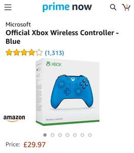 Xbox one controller - £29.97 + £3.99 Delivery @ Amazon Prime Now