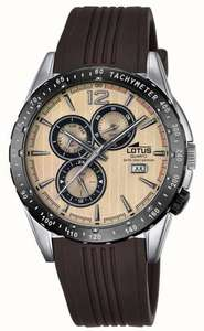 Lotus Mens Brown Rubber Strap Beige Dial – £55 @ First Class Watches