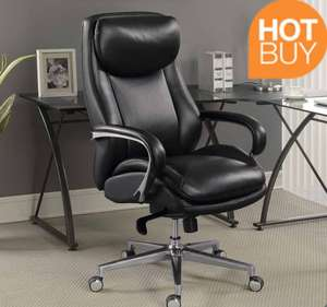 La Z Boy Black Leather Executive Office Chairla Z Boy Black Leather