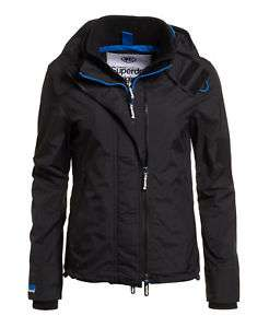 New Womens Superdry Technical Hooded Pop Zip Windcheater Black - Size L - £33.59 + Free Delivery @ Superdry Ebay