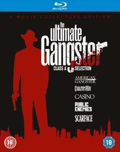 THE ULTIMATE GANGSTER BOX SET (Scarface - Public Enemies - Casino - Carlito's Way - American Gangster) Blu-ray £10.98 @ Zavvi
