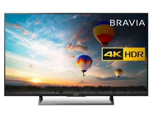 "Sony Bravia KD49XE8005 LED HDR 4K Ultra HD Smart Android TV, 49"" with Freeview HD & Youview, Black - £499 @ John Lewis"