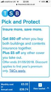 £500 worldwide Gadget insurance (including mobile) loss/accidental from £3 pm @ TSB