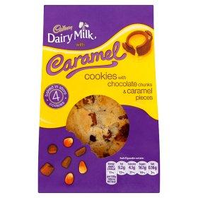 Cadbury Dairy Milk 4 Caramel Cookies with Chocolate Chunks & Caramel Pieces £1 at Asda