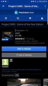 Project Cars – GOTY Edition £11.99 (via PSN Store)