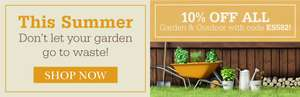 10% off Garden & Outdoor products over £30 with code @ Scotts of Stow