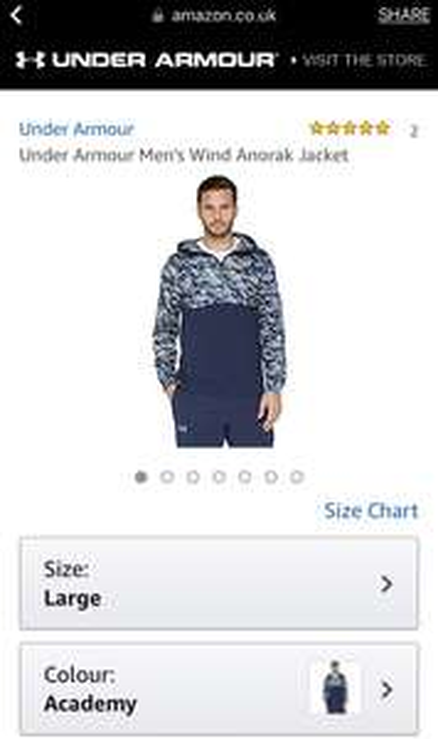 Under Armour Men's Wind Anorak Jacket – £10.27 (Prime) £14.26 (Non Prime) @ Amazon