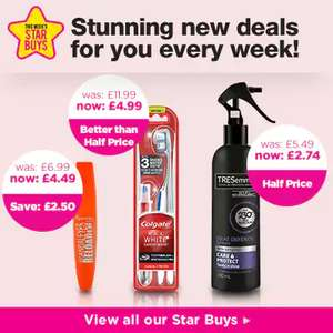 10% off cosmetics @ Superdrug Beauty members only.