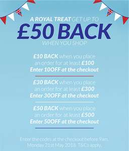 Up to £50 back on your account @ Very
