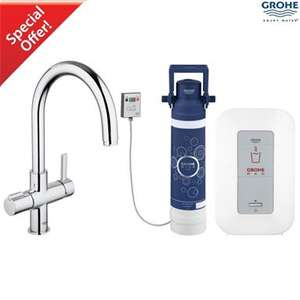 GROHE 30058 000 Red Duo Kitchen Mixer, Arched Spout and Single Boiler 4ltrs, Chrome. - £595 @ Plumbingforless