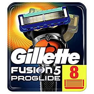 Gillette Fusion5 ProGlide Razor Blades, 8 Refills - £18 (Prime) £21.99 (Non Prime) £13.10 (S&S) @ Amazon