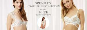 Free Body Bow when you Spend £50 on Bridal Collection with Code @ Bluebella