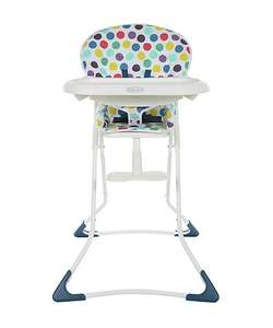 Graco Teatime Highchair Spots was £59.99 now £19.99 with Free c&c @ Mothercare - also Half Price Travel Cots