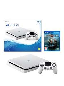 Playstation 4 500GB White Slim Console With God Of War And Extra DualShock Controller £229.99 with code @ Very