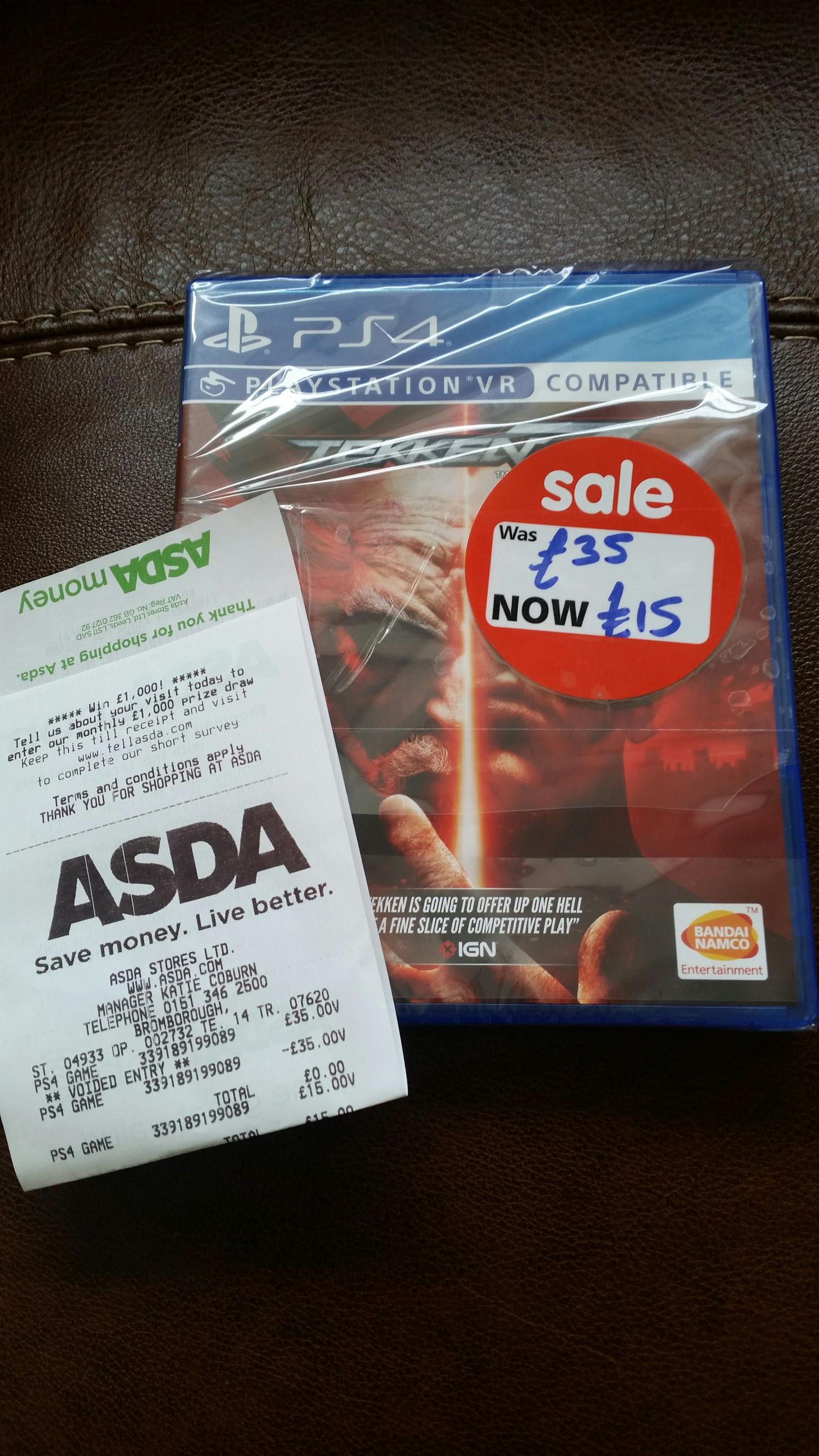 Tekken 7 PS4 - £15 instore @ ASDA (Bromborough)