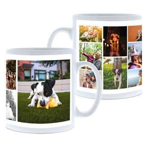 Personalised Collage Photo Mug - Up To 11 images plus other designs £5 @ Tesco Photo (Free collection instore)