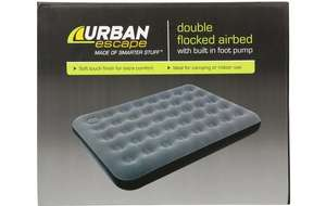 Urban Escape Double Flocked Airbed With Built In Pump. Was £40 now £16 @ Halfords