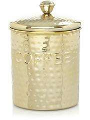 Hammered-effect Coffee Canister - Gold - Now £2 at Asda + Free C&C