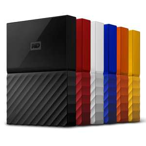 WD 4TB My Passport Recertified from £49.99 Blue / £51.99 Yellow / £56.99 Black / £61.99 Red & Orange