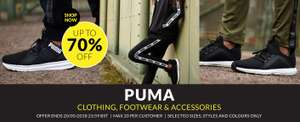 Puma up to 70% off @ Sports Direct