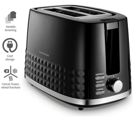 Morphy Richard 2 Slice Dimensions Black Toaster £7.25 @ Tesco online