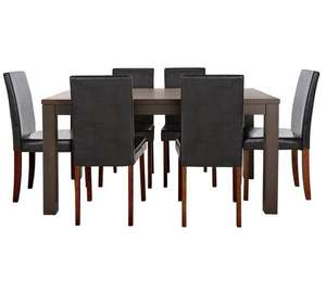 HOME Pemberton Walnut Veneer Dining Table & 6 Chairs was £336.94 now £254.44 Del with code at Argos