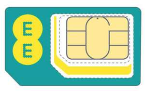 EE Sim Only - 20GB Data. £22PM, £11.58 PM W/Cashback