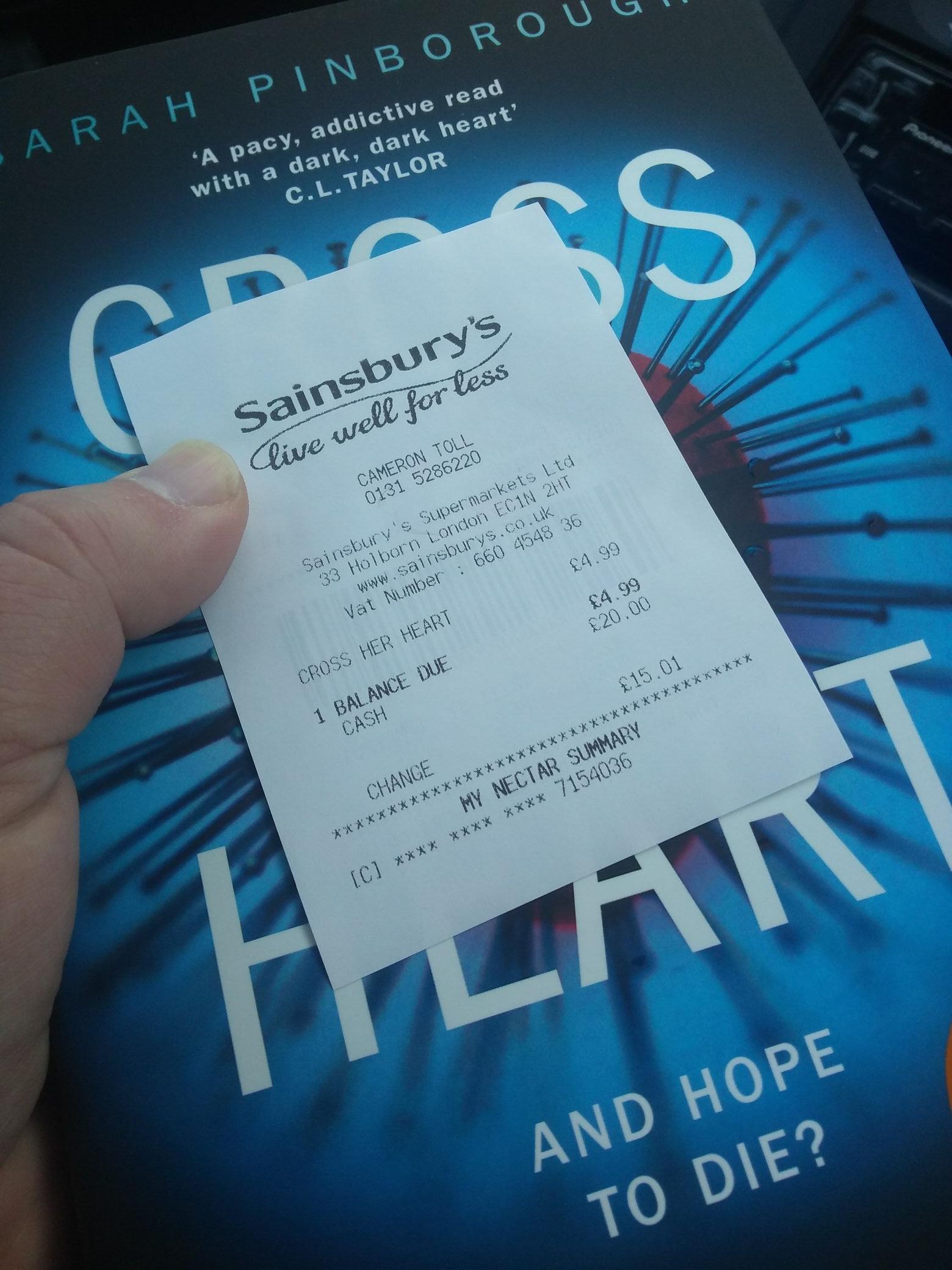Cross Her Heart- Sarah Pinborough £4.99 instore @ Sainsbury's