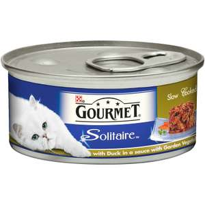 Gourmet Solitaire Duck and Vegetables cat Food - 12 Pack - 20% off Voucher = £7.68 (Prime) £11.43 (Non Prime) S&S available for further savings ~ Amazon