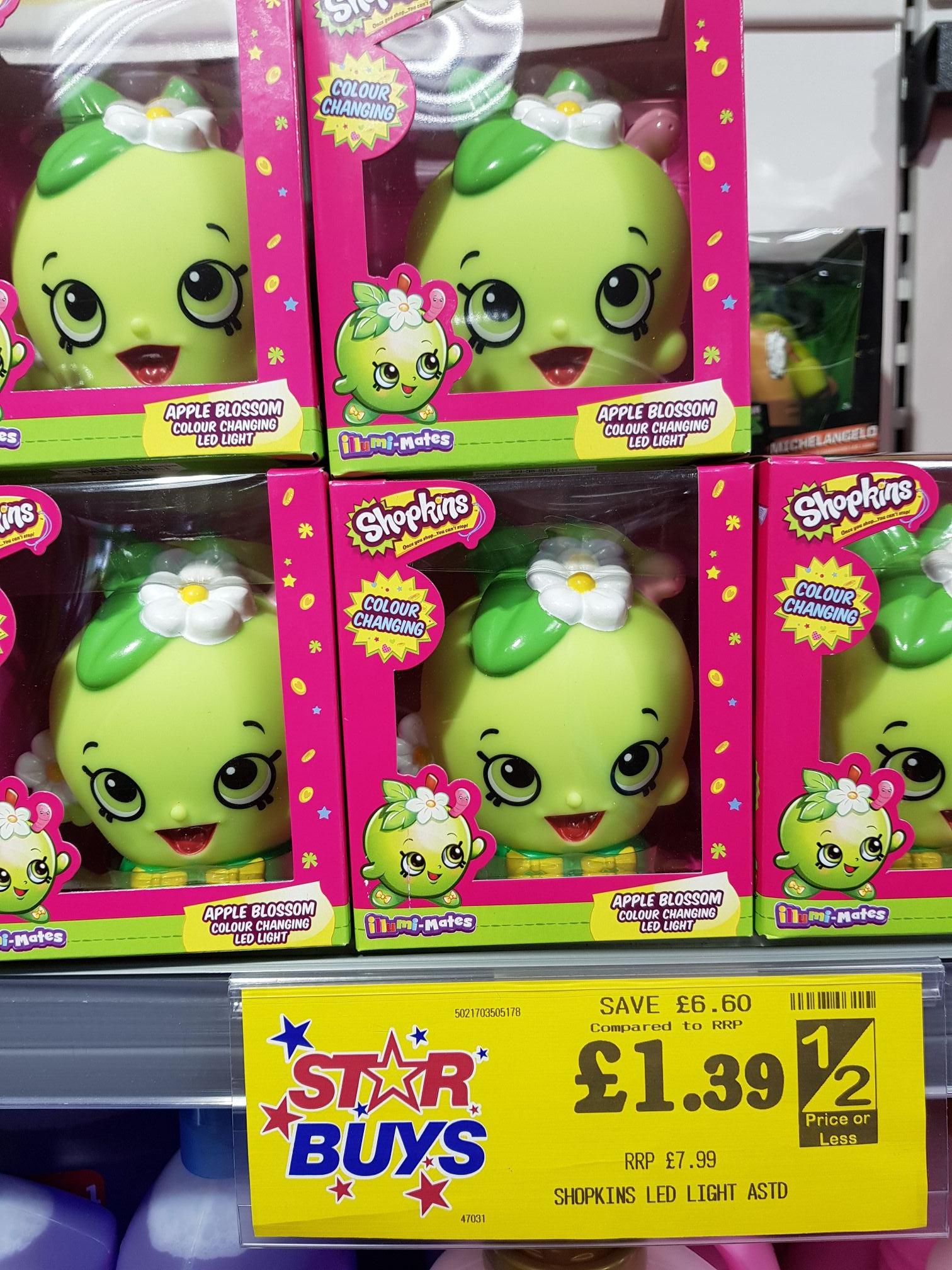 Shopkins LED light - £1.39 instore @ home bargains