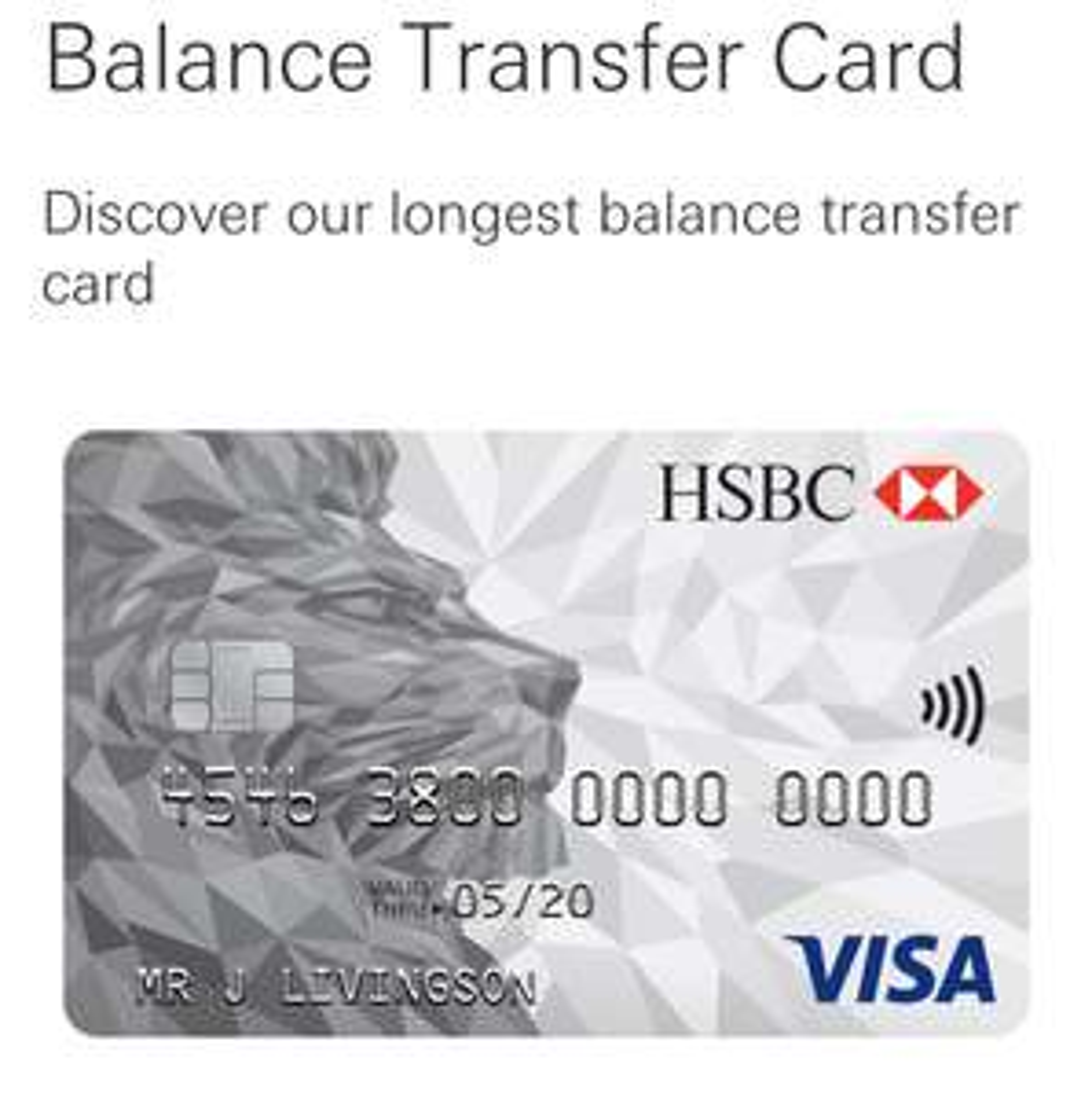 Hsbc - 32 months BT Credit Card + £25 cashback