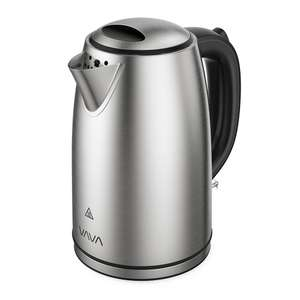 VAVA 1.7L Kettle with British Strix Control, 304 Stainless Steel (BPA-Free/CE/GS/LFGB Certified) £18.49 Prime / £22.48 Non Prime w/promo @ Amazon / Sunvalleytek-UK