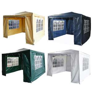 3m x 3m 4 sided waterproof gazebo £34.90 delivered - other sizes in post @ eBay sold by kmsdirectshops