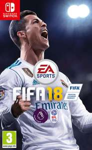FIFA 18 all formats including Switch, PS4 Xbox One £20 at Amazon