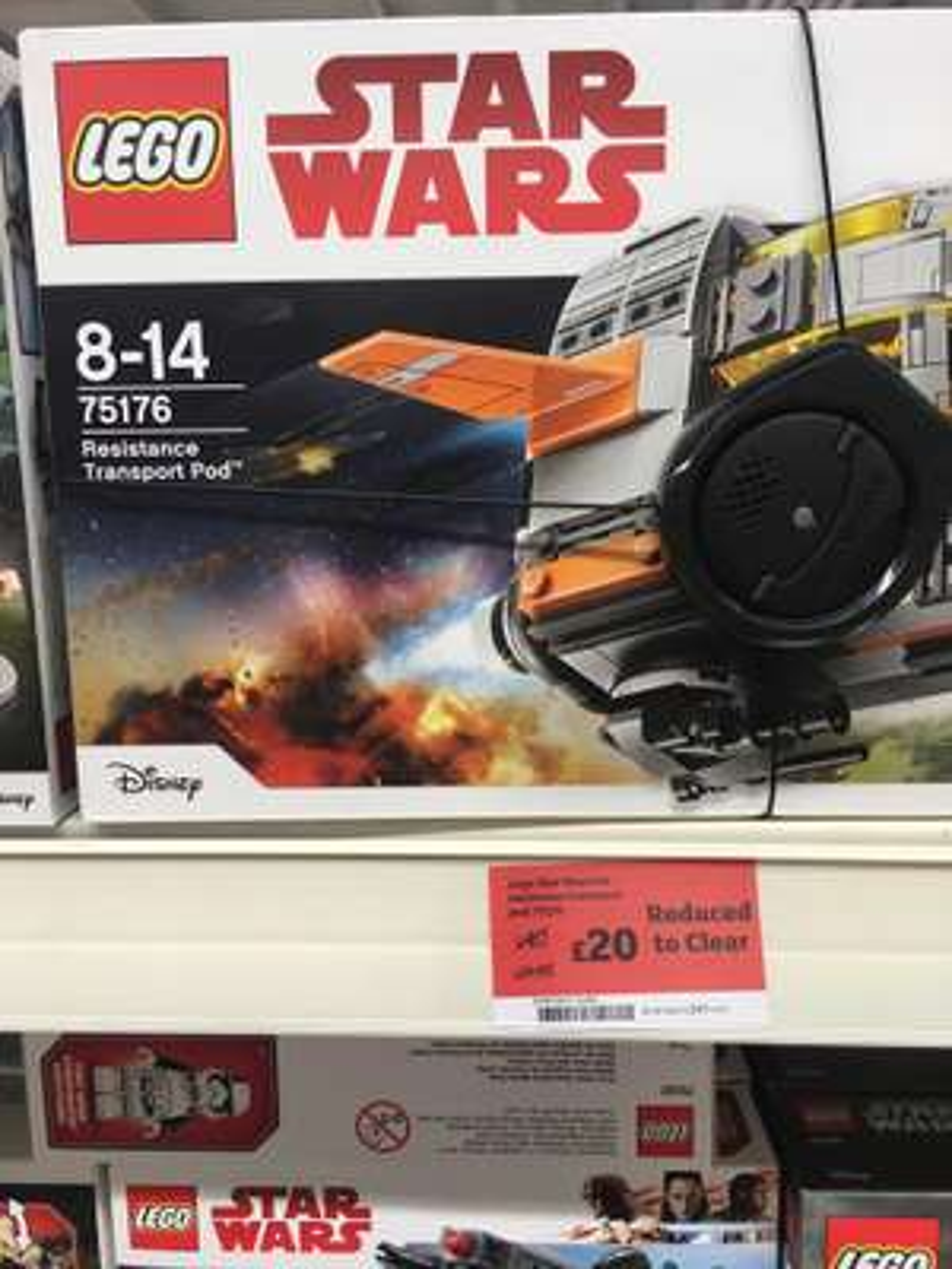 LEGO 75176 Star Wars resistance transport pod – £20 instore @ Sainsbury's